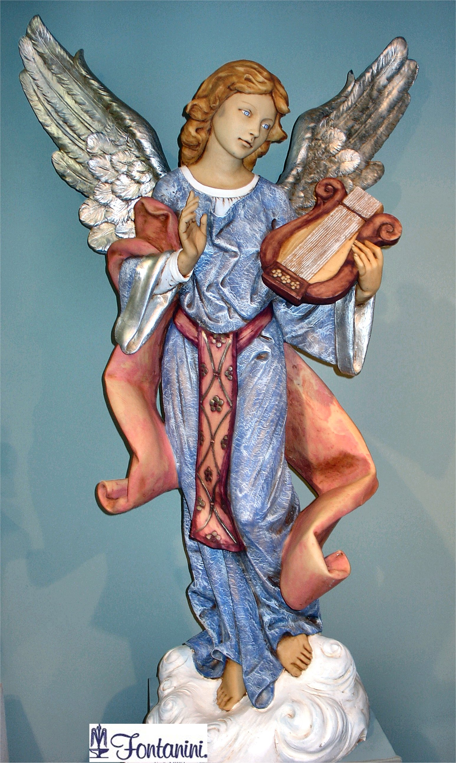 Angel Standing on a Cloud Statue by Fontanini