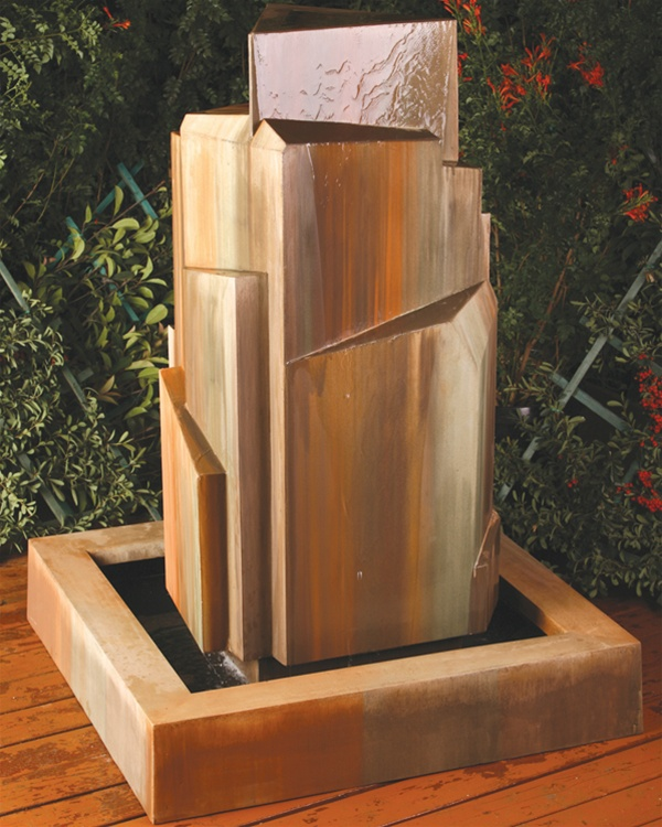 Flourish Contemporary Waterfall Garden Fountain