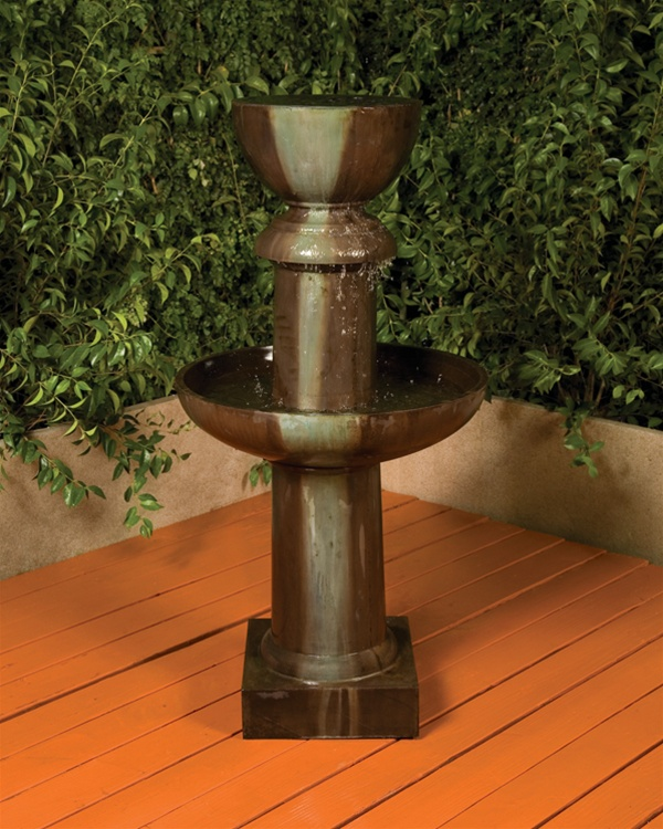 Ion Fountain Slim Garden Water Flowing Decor