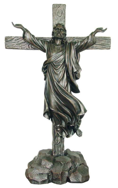 Ascension Jesus On Cross Sculpture