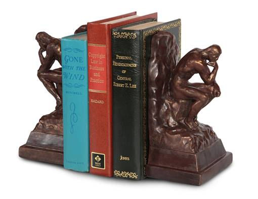Thinker by Rodin bookends for sale