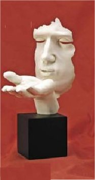 Blowing Kiss Sculpture contemporary statuary