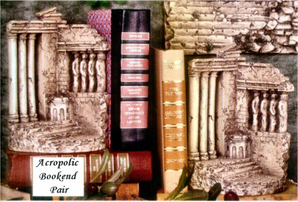 Acropolis Bookends Pair Statues