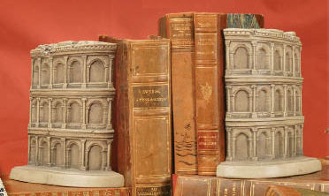 Coliseum Bookends Pair Sculptures