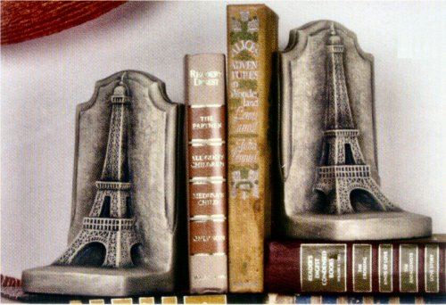 Eiffel Tower Bookends Set Statues