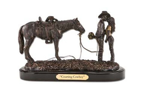 Courting Cowboy Western Sculpture Lovers