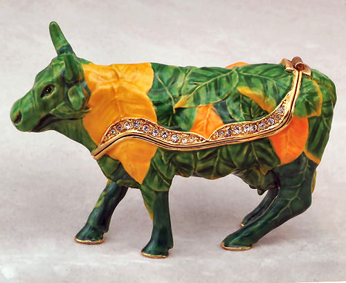 Cows on Parade Botanica Jeweled Box