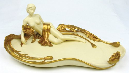 Art Nouveau Female Nude Tray Deco