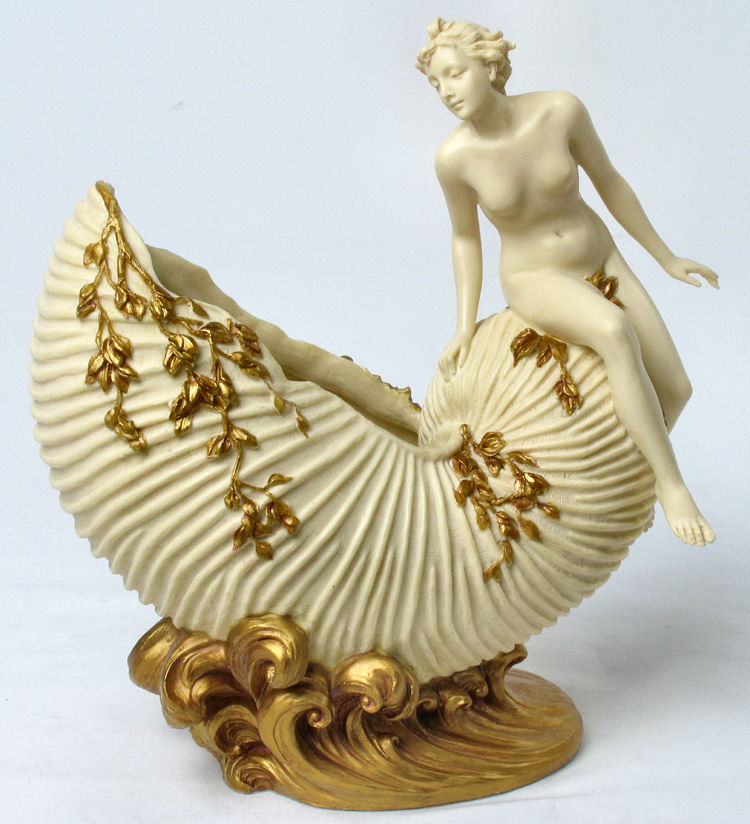 Art Nouveau Woman Jewelry Dish