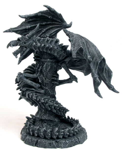 Bone Serpent Dragon Candle Holder