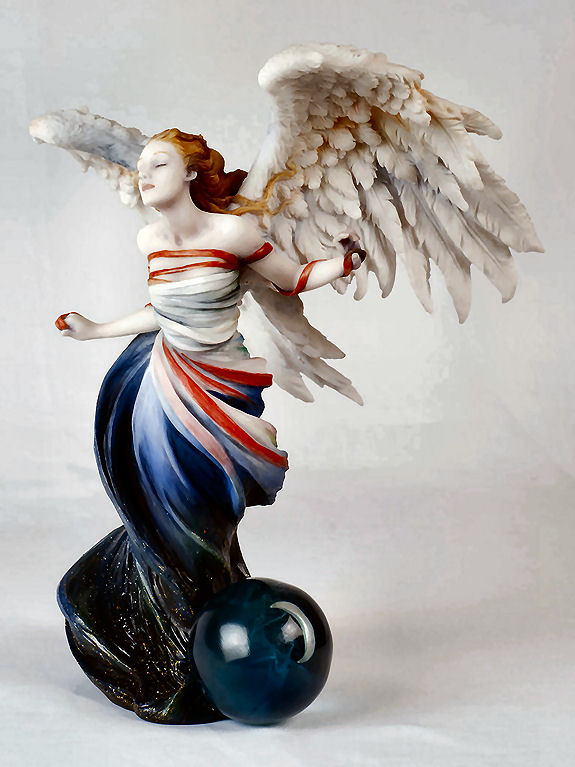 Angel Figurine - Written In The Wind By Wolk Artist