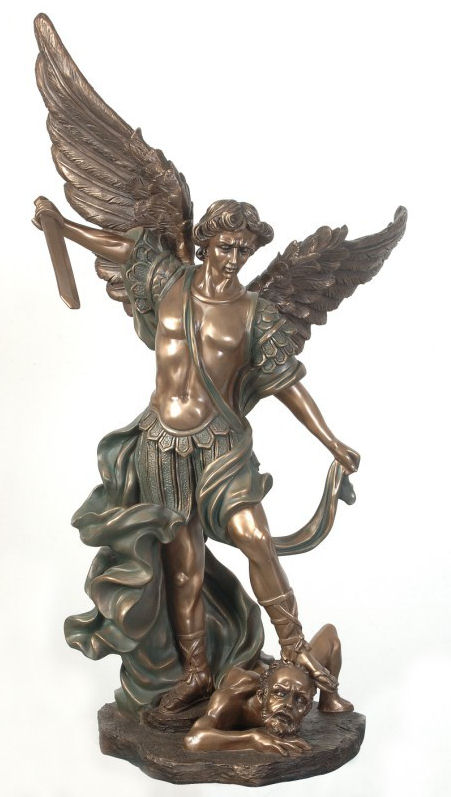 Large Replica of Saint Michael Sculpture Renaissance Art
