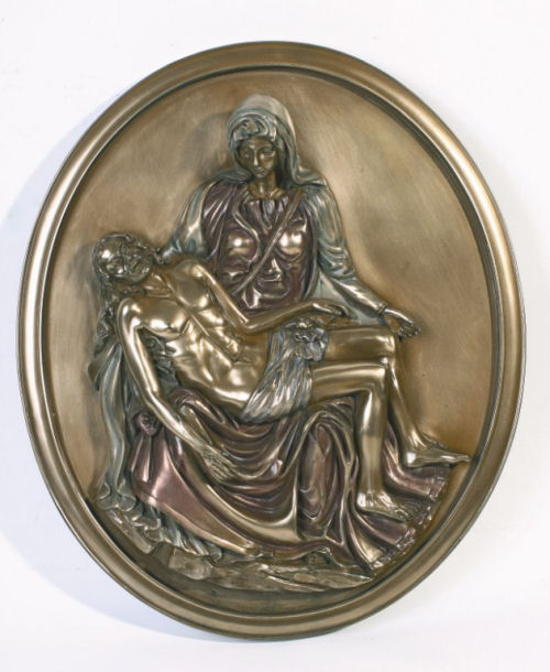 Pieta Wall Plaque Michelangelo Relief