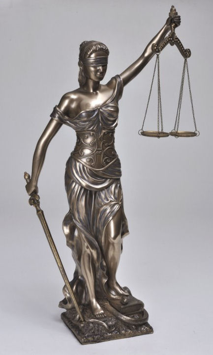 Lady Justice Statue Blind Scales of Justice Sculpture