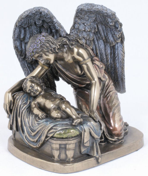Angel Whisper Bronze Patina Statue
