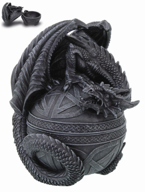 Celtic Dragon Lidded Sculptural Box