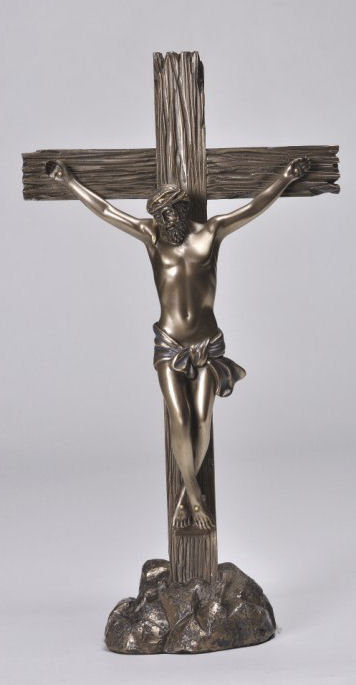 sculpted Crucifix Statue depicts Christ on the cross