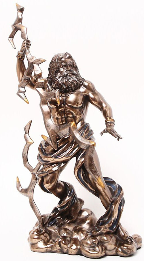 Zeus with Thunderbolt Sculpture