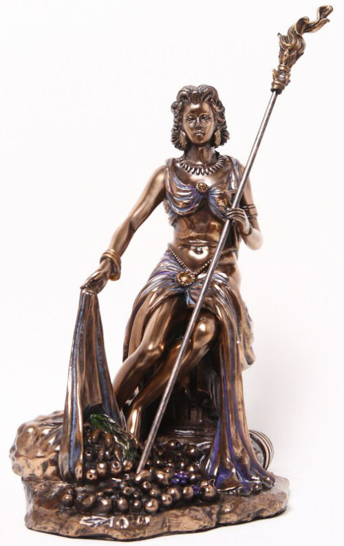Demeter Goddess of the Harvest Bronze Statue