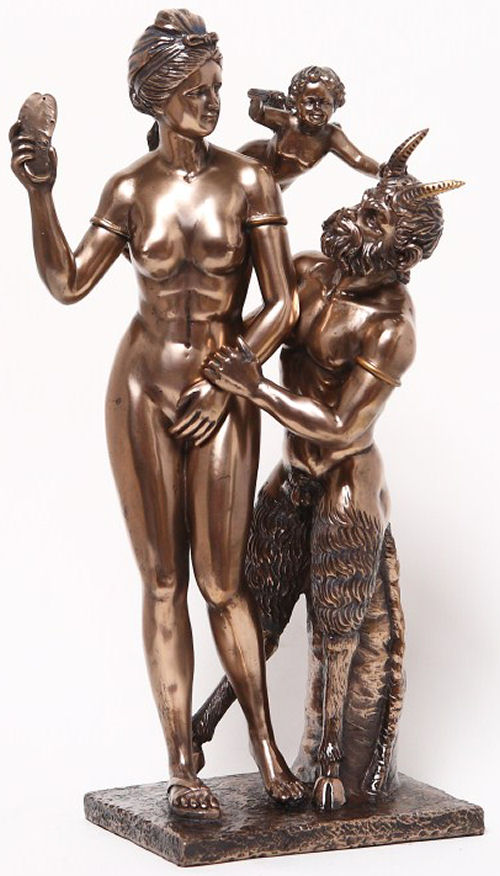 Aphrodite And Pan Statue replica sculpture eros