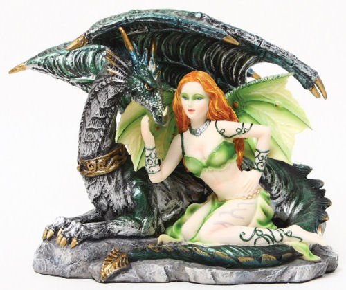 Fairy with Dragon Sculpture sexy statue
