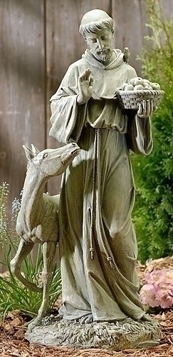 Saint Francis With Horse Statue