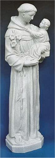 Saint Anthony Faux Granite Garden Statue Religious