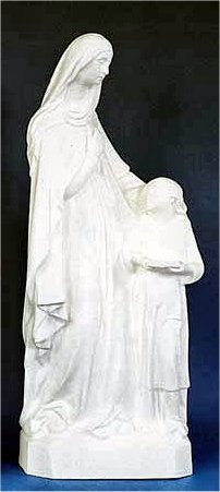 Saint Anne & Child White Statue Garden Statuary