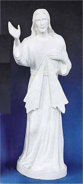 Jesus Of Divine Mercy Statue classic white Sculpture