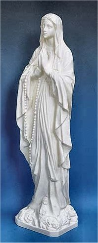 Our Lady Of Lourdes White Garden Statue 24 Quot High