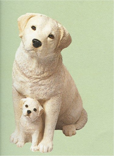 Labrador Retriever Yellow & Pup Statue