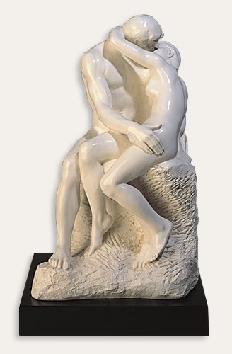 Kiss by Rodin Statue White Sculpture Reproduction