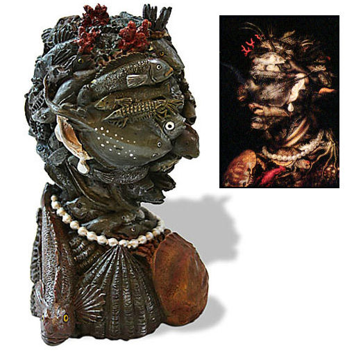 Bust Element Water Sculptural Bust By Arcimboldo