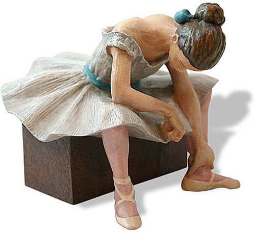 The Waiting Ballerina Statue By Degas
