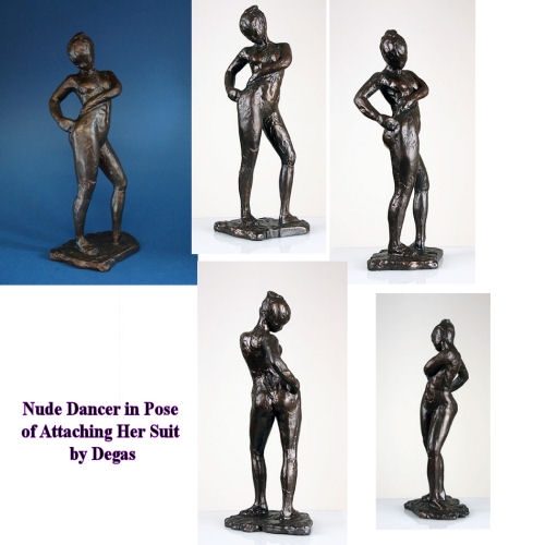 Nude Dancer In Pose By Degas Sculpture
