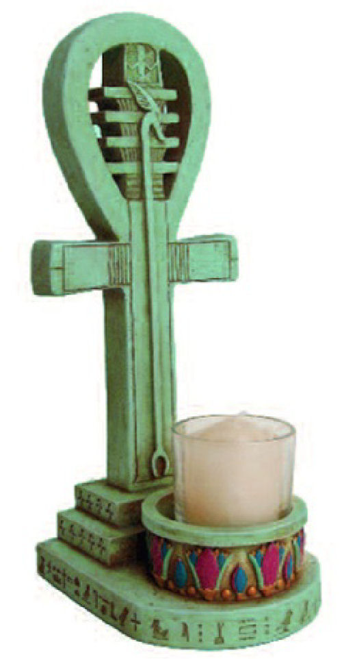Ankh Egyptian Candle Holder