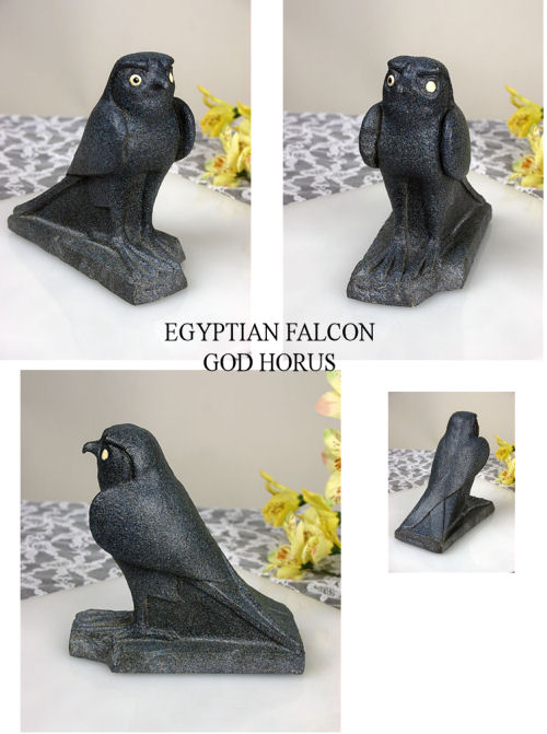 Egyptian Falcon God Horus Bird Statue