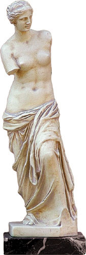 Aphrodite Of Melos Statue replica from the Louvre Museum