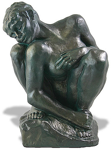 Crouching Woman Statue By Rodin Figure Replica