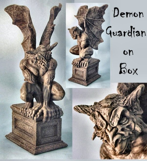 Demon Guardian On Tresure Box for Keepsakes