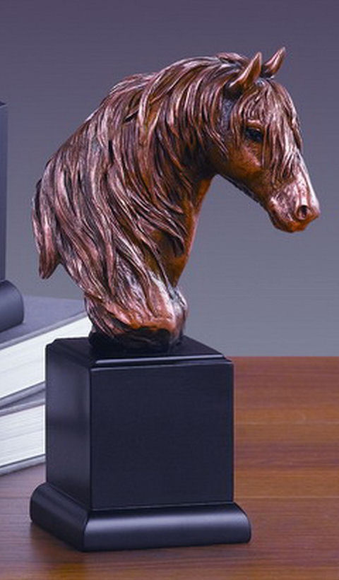 fine art Horse Bust Sculptural Head Sculpture