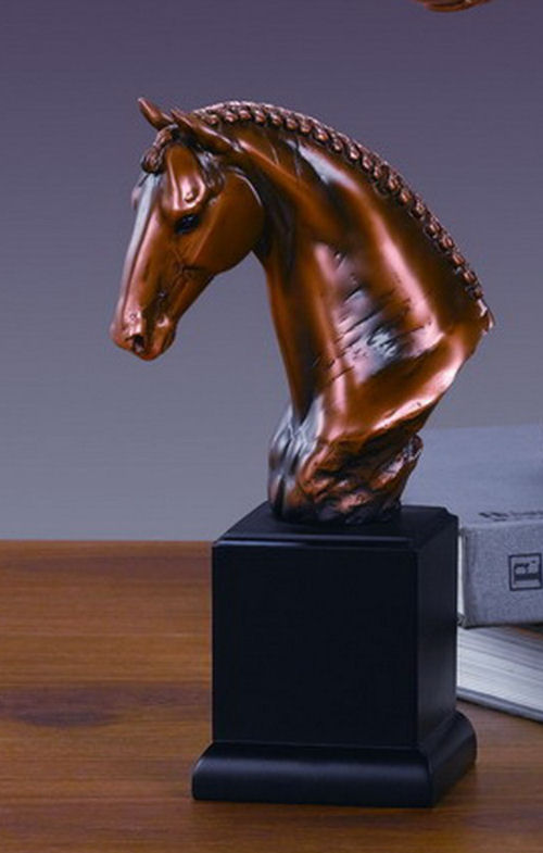 Horse Bust Regal Head Sculpture Equestrian Statue