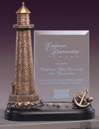 Glass Imprint Lighthouse Sculpture Award