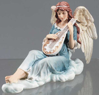 Angel Choir with Lute Figurine