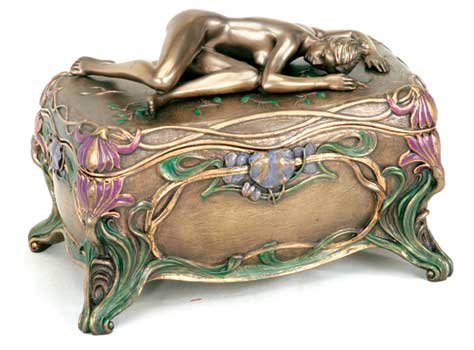Art Nouveau Slumber Box Female Nude Sleeping