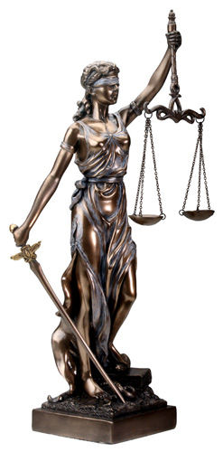 Blind Lady Justice Statue With Scales 12 5 Quot High