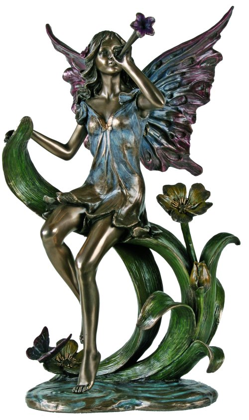 Trumpeting Fairy Sculpture Art Deo Statue