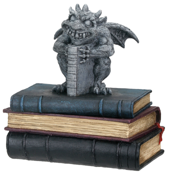 Crazy Gargoyle Box with books sculpture