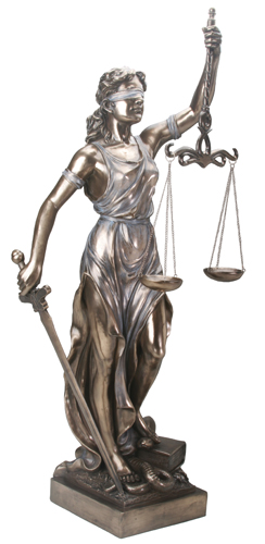 Blind Justice Statue - lady Justice - la Justica three feet tall
