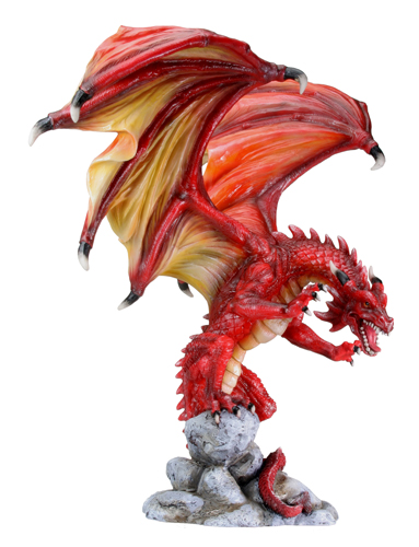 Attacking Red Dragon Figurine